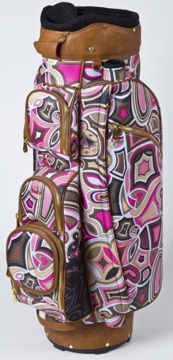 Check out what #lorisgolfshoppe  has for your days on the golf course! Cutler Ladies Golf Cart Bags - Davis Pink