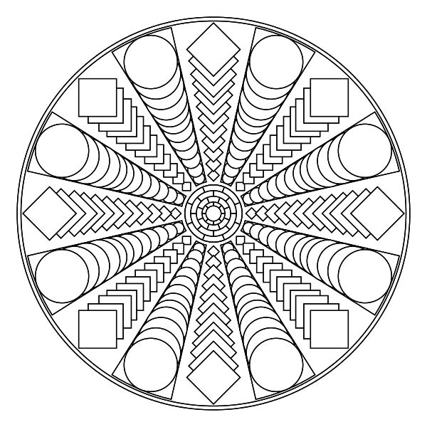 free printable mandala coloring pages coloring pages to help you relax and calm down. Black Bedroom Furniture Sets. Home Design Ideas