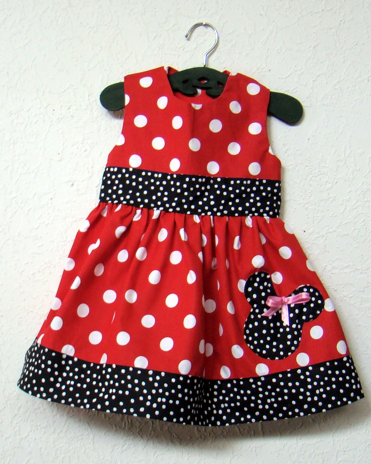 My version of Minnie Mouse Dress for 3 year old :)