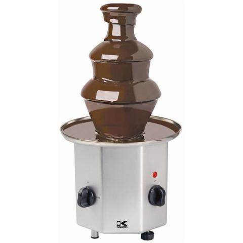 You can find cheap chocolate fondeau fountains in the wedding orential trading catologs or on their website....only 30.00!!!! Great idea for the reception!