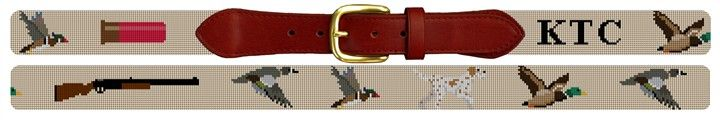 Duck Hunting Needlepoint Belt | NeedlePaint