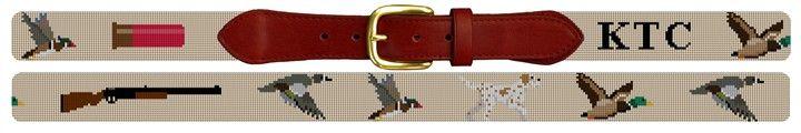 Custom Duck Hunting Belt Needlepoint Kit | NeedlePaint