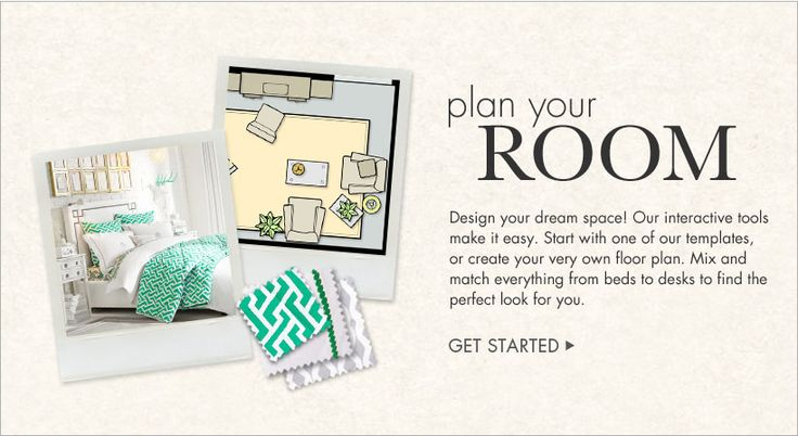 Plan Your Room! Now you can plan and create the space you want. Start with one of our templates or create your own floor plan from scratch. ...