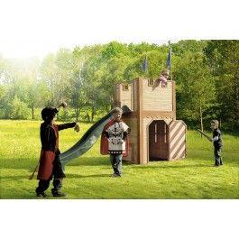 Houten speelhuis AXI | Houten speelhuisje | Houtenspeelhuisje.nl