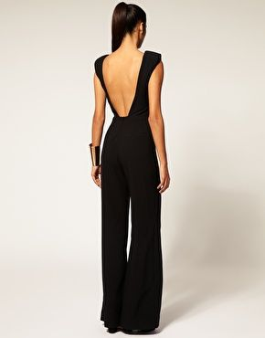 Love it!: Gorgeous Jumpsuits, Backless Jumpsuits, Awesome Rompers, Legs Jumpsuits, Evening Outfits, Black Rompers, Wide Legs, Awesome Fancy, Black Jumpsuits