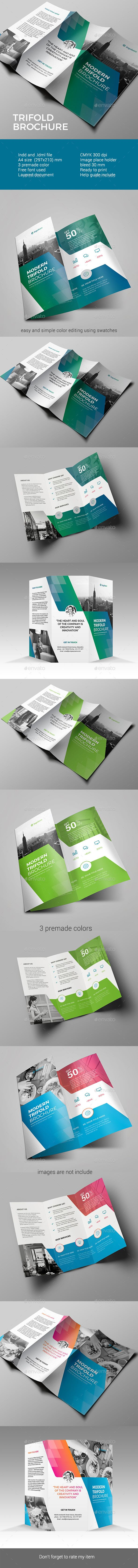 Corporate Trifold Brochure Template - #Corporate #Trifold #Brochure #Template #Design. Download here: https://graphicriver.net/item/trifold-brochure/19455096?ref=yinkira