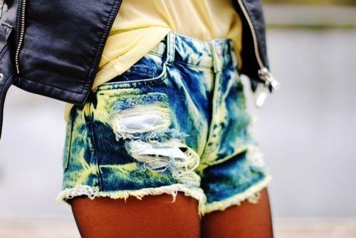 tie dye jean shorts style-trend-a-refined-edge