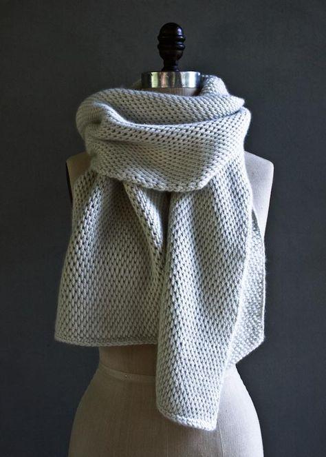 Tunisian Crochet Scarf | Purl Soho, free pattern, wrap