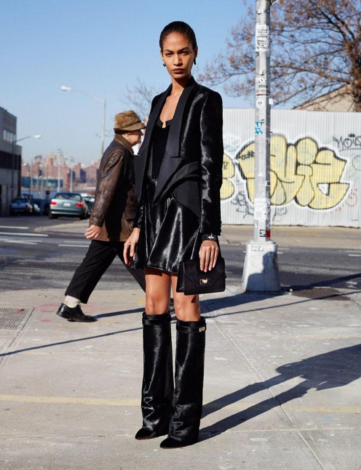 Street Style - GIVENCHY vs ZARA - leather knee wedge boots - stivali con zeppa al ginocchio 6