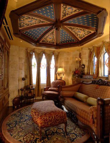The apartment in Cinderella's castle