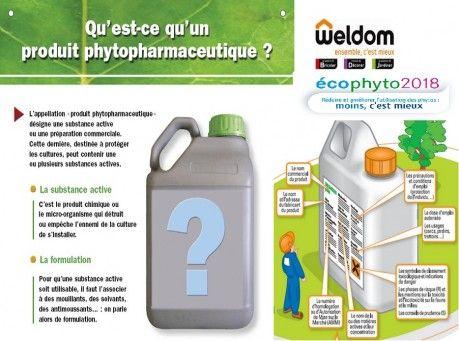 ECOPHYTO 2018  Vous allez bientôt retourner dans le jardin, les conseillers de votre magasin weldom chaumont sont là pour vous renseigner et vous aider dans l'usage des produits phytopharmaceutiques, leurs usage et les moyens de se protéger et de protéger l'environnement.N'hésitez pas également à leur demander les FDS relatives aux propriétés d'une substance chimique.  Pour plus de renseignement vous pouvez consulter le catalogue E-PHY: http://e-phy.agriculture.gouv.fr/