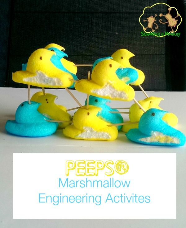 Marshmallow engineering activities take on a new twist when done with PEEPS® in these 4 fun projects!