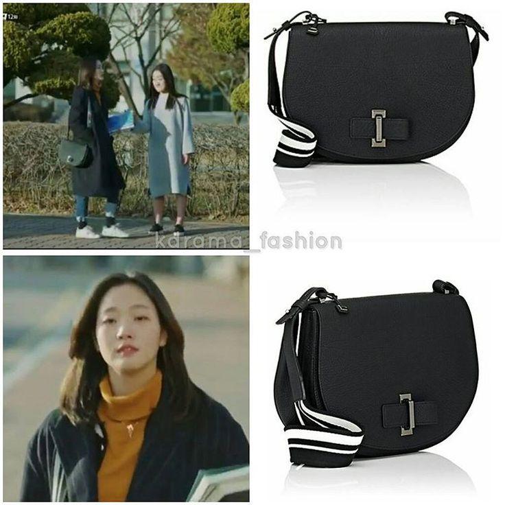 "700 lượt thích, 17 bình luận - @kdrama_fashion trên Instagram: ""Kim Go Eun carried DELVAUX MUTIN Bag_Black $3,800 in Goblin Drama Episode 12. Photo credit to…"""