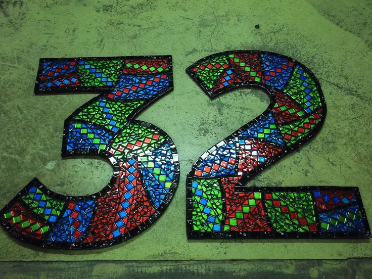 Commission: Mosaic house numbers