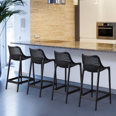 Compamia Air 25.6 in. Counter Height Bar Stool - Set of 2