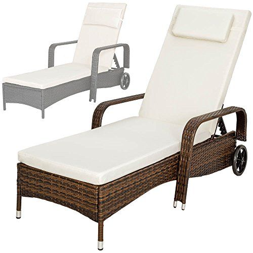 TecTake Rattan day bed sun canopy lounger recliner garden furniture patio terrace - different colours - (Multi)  Price Β£101,79