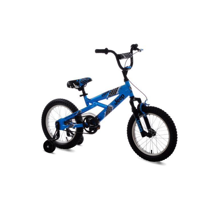 Jeep 16 in. Boys Bike - The  Jeep 16 in. Boys Bike - Blue  brings the rugged Jeep spirit home for your adventurous child. A sturdy frame makes sure this one will provide...