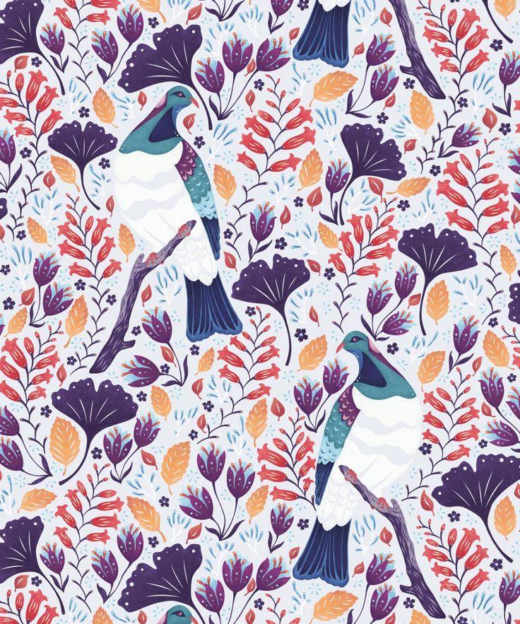 Holy Kereru Wallpaper • Bold Bird Wallpaper • Milton
