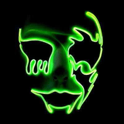 LED Glow Hand Made Cosplay Horror Ghost Party Costume Face V Vendetta Scary Masque Masquerade Mascara Anonymous Halloween Mask