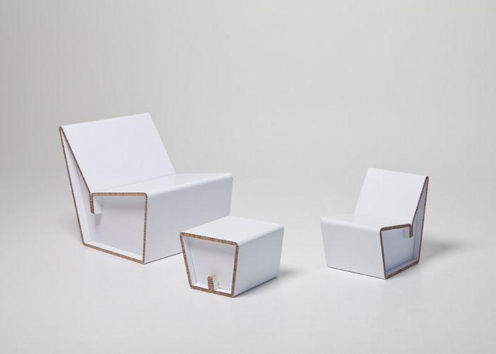 design d'objet, design mobilier, meuble design, meuble carton, mobilier carton, chaise enfant, fauteuil carton