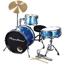 Spectrum AIL 650B – 3 Piece Junior Drum Set – Electric Blue Finish