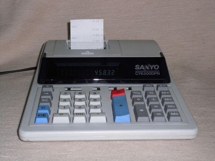 Druckender Tischrechner Sanyo CY-6300DPN