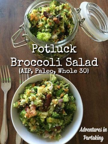 Pot Luck Broccoli Salad {AIP, Paleo, Whole30}
