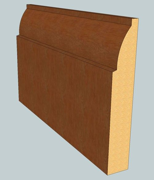 Ovolo Skirting Boards - 220mmm x 18mm - 3m lengths