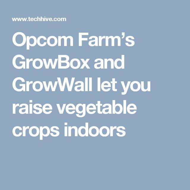 Opcom Farm's GrowBox and GrowWall let you raise vegetable crops indoors