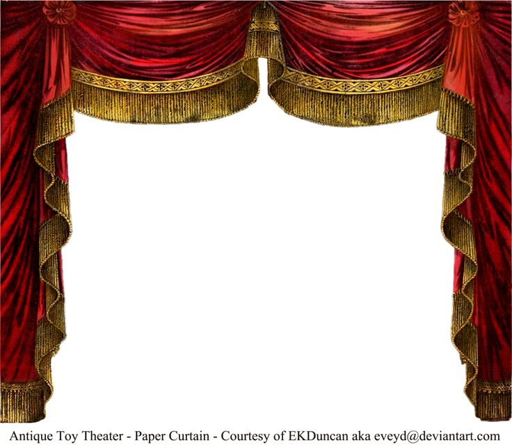 Paper Theater Curtain - Ruby by EKDuncan ~EveyD at deviantART. A variety of this digitally altered toy theater curtain can be found in png format at http://eveyd.deviantart.com/gallery/33415981?offset=48