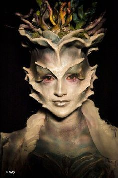 f4eda98fb50d4d0c584e3975f3394b4f.jpg 236×355 pixels Goddess type makeup and design. Super cool- Face Off