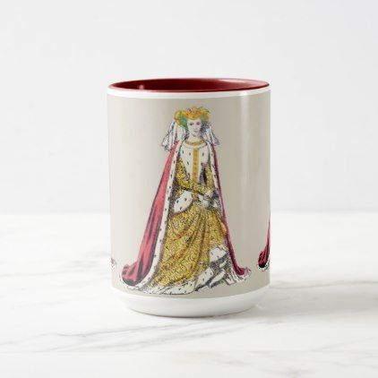 COSTUMES Catherine of Valois Henry 5th  1420 Mug - traditional gift idea diy unique