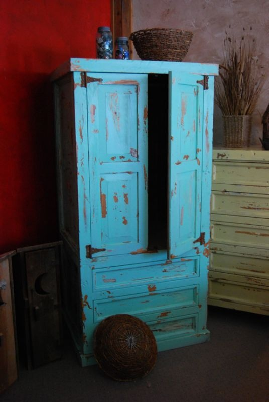 Back Country - Weathered Paint Armoire