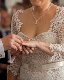 The very talented KMR Bespoke Bridal Designer created this amazing dress using our Ivory Guipure Lace - Eva