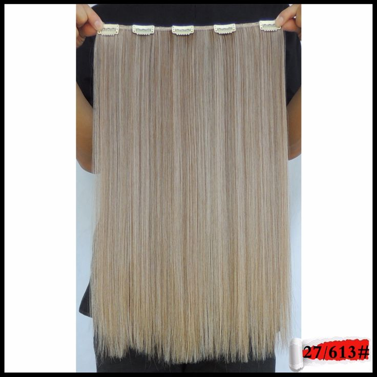 20inch 50g Hair Extensions Mega Fiber Apply Clip in Hairpiece Style Synthetic Extension Secret 27/613 Dark Blonde Color