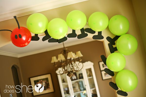 """Adorable """"Hungry Caterpillar"""" party!"""