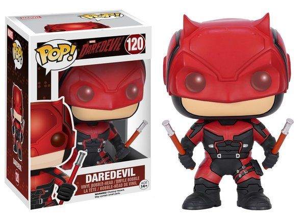 Funko Pop Marvel- Daredevil TV-Daredevil Red Suit Action Figure used