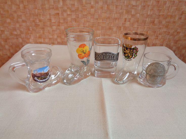 Pálinkás poharak - saját gyűtemény