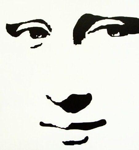 Mona Lisa Stencil Smile.