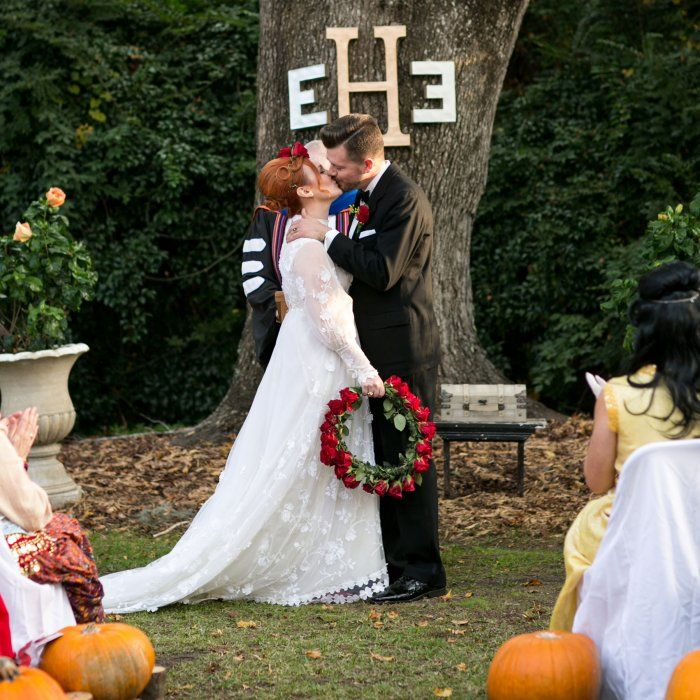 Halloween Wedding Altar: Pretty Outdoor Wedding Ceremony