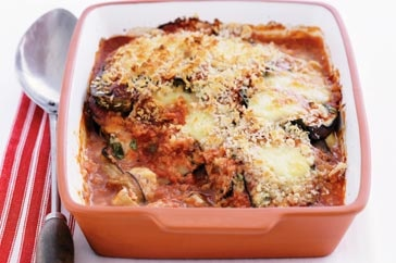 Eggplant parmigiana! So cheesy and delicious!
