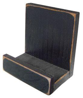 Black Wooden Plate Holder