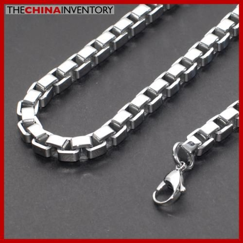 8MM MEN`S 22` STAINLESS STEEL BOX CHAIN NECKLACE N3006