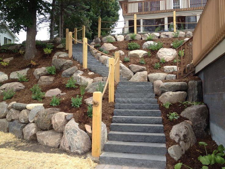 ideas about steep backyard on   backyard hill, Landscaping