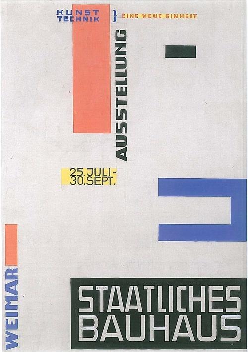 Bauhaus Weimar poster by Herbert Bayer, 1923 #bauhaus