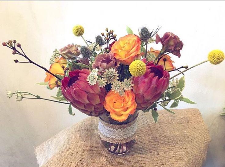 #Repost @heyshanz  ・・・ Beauty beyond words.  #hopetherecipientlovesitasmuchasido #marcheauxfleur #protea #bespoke #vasearrangement #birthdaysurprise #flowers #roses #freshflowers