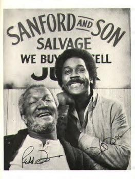 "Redd Foxx and Demond Wilson for the TV series ""Sanford and Son"""