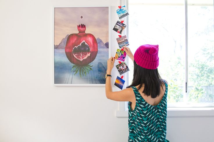 Hanging up photos ❤️ see more on www.kisforkani.com