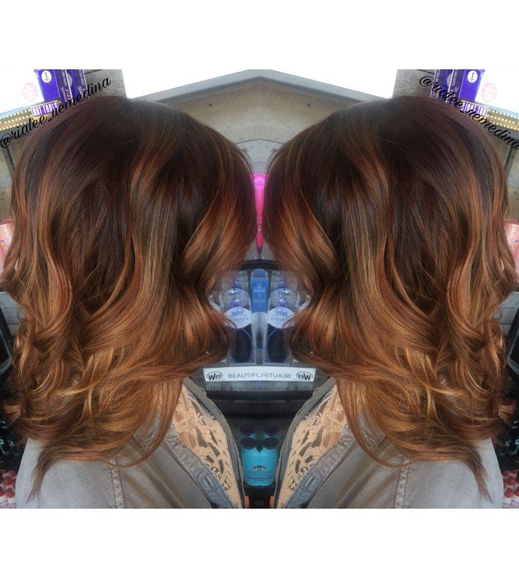 Tiger Eye Hair Fall Hair Balayage Caramel Brunette