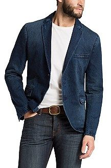 Jeansjacke ´Beneslim3-D` aus Baumwolle, Blau